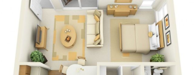 Awesome Studio Apartment Layout Ideas