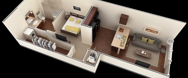 Lovely One Bedroom House Plans Ideas