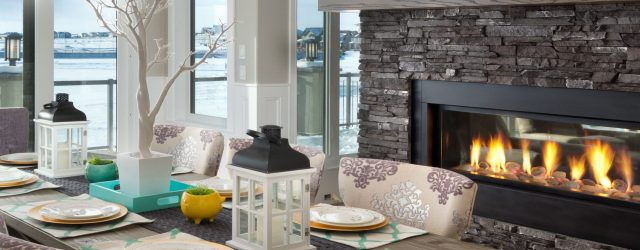 Affordable Dining Room With Fireplace Ideas