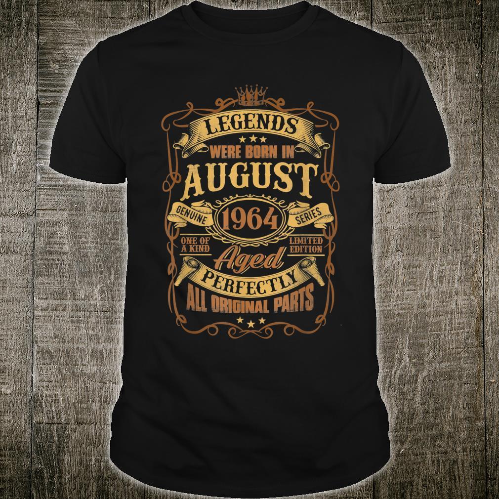 57 Years Old Birthday Legend August 1964 57th Birthday Shirt