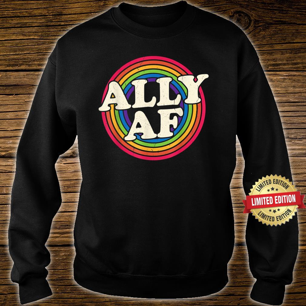 Ally AF Gay Pride Month Shirt LGBT Rainbow Shirt sweater