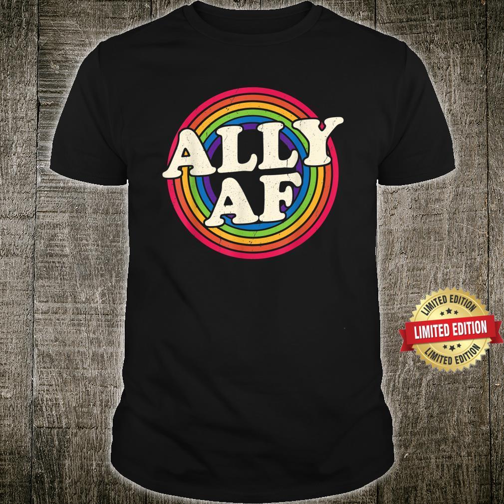 Ally AF Gay Pride Month Shirt LGBT Rainbow Shirt