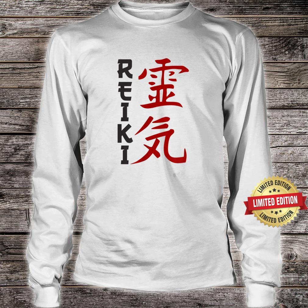 Japanese Character Reiki Art Shirt, Chakra Shirt long sleeved