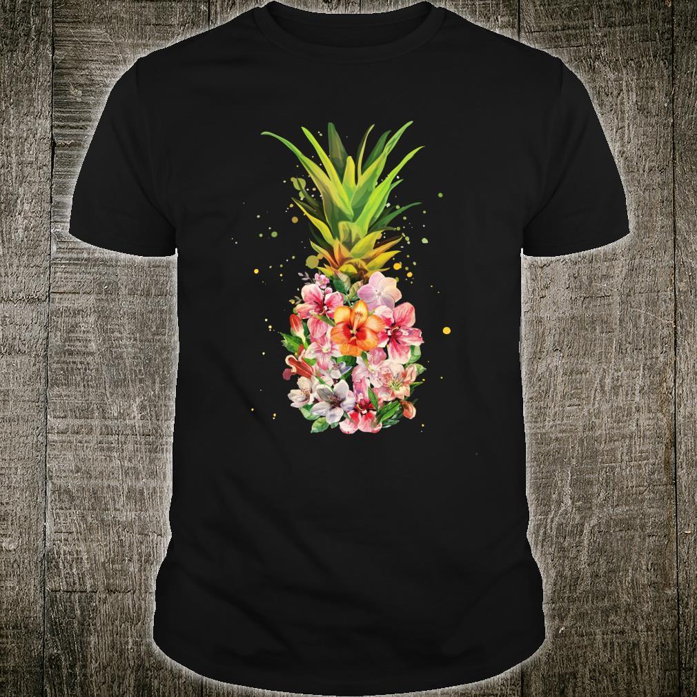 Pineapple Flowers Aloha Hawaii Vintage Hawaiian Floral Shirt