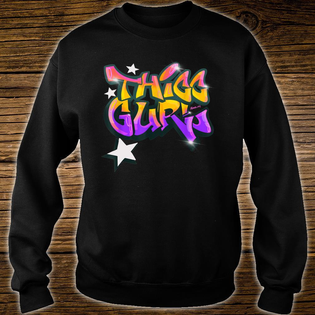 """THICC Gurl GraffitiStyle Urban Streetwear Shirt sweater"