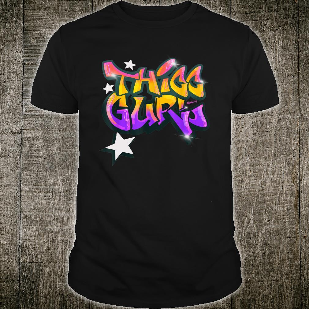 """THICC Gurl GraffitiStyle Urban Streetwear Shirt"