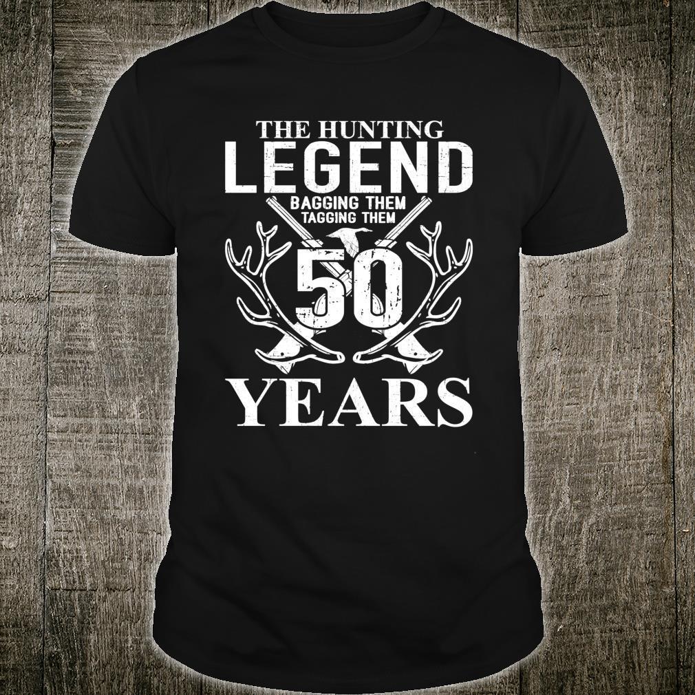 The Hunting Legend 50 years Hunters 50th birthday Shirt