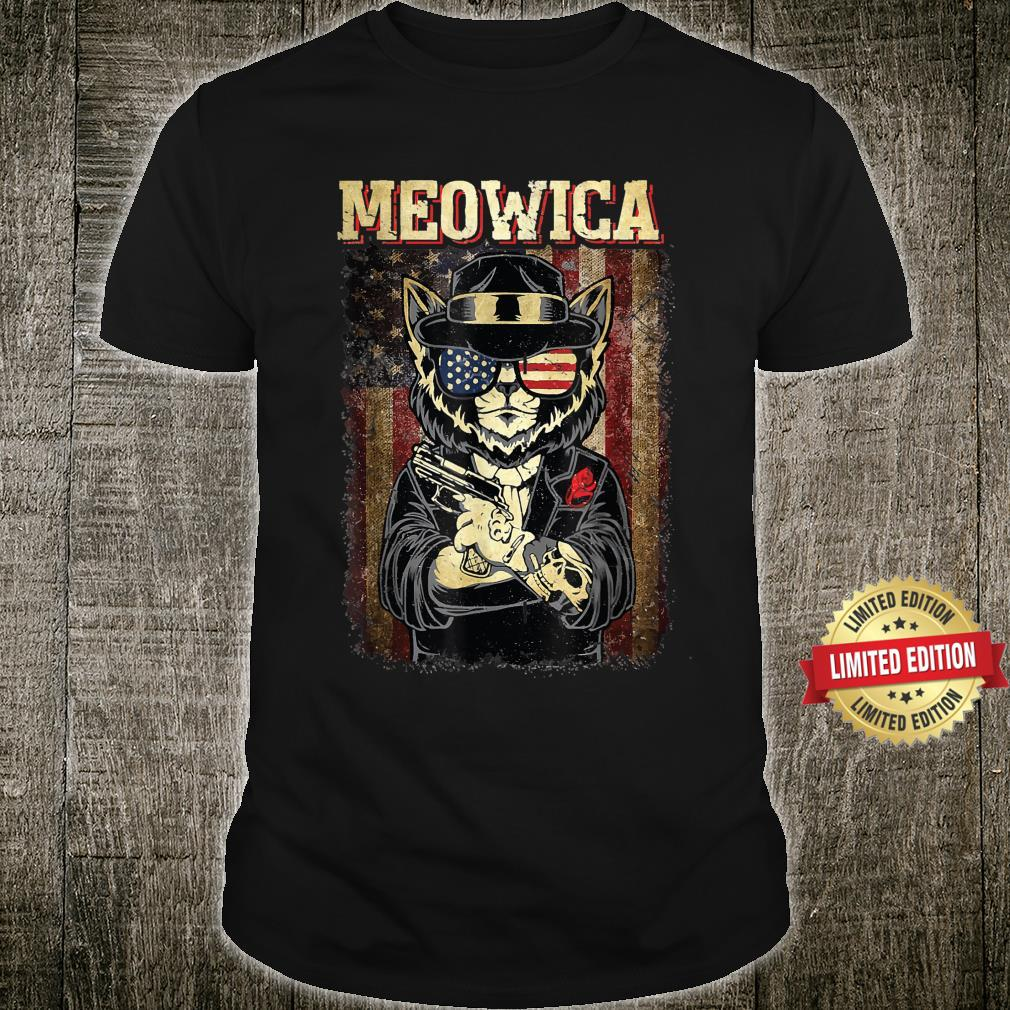 USA Meowica Cat 4th Of July For Cats Shirt