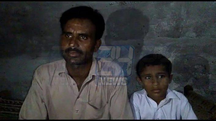Left: Aashiq Hussain. Right: Qandeel's Son Image: 24 News