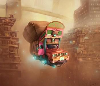 Pakistani Artist's Concept Art Of A Sci-Fi Pakistan Will Blow You Away