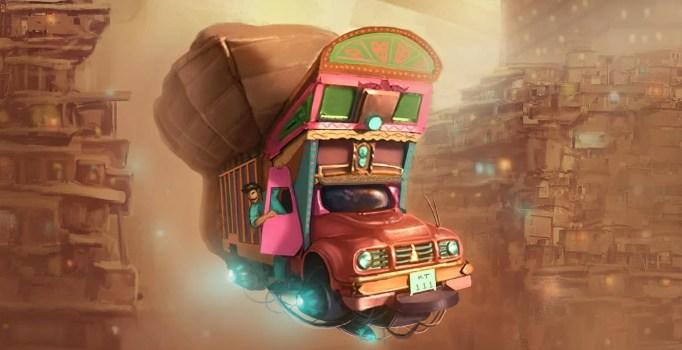 Image result for Pakistani Artist's Concept Art of a Sci-Fi Pakistan