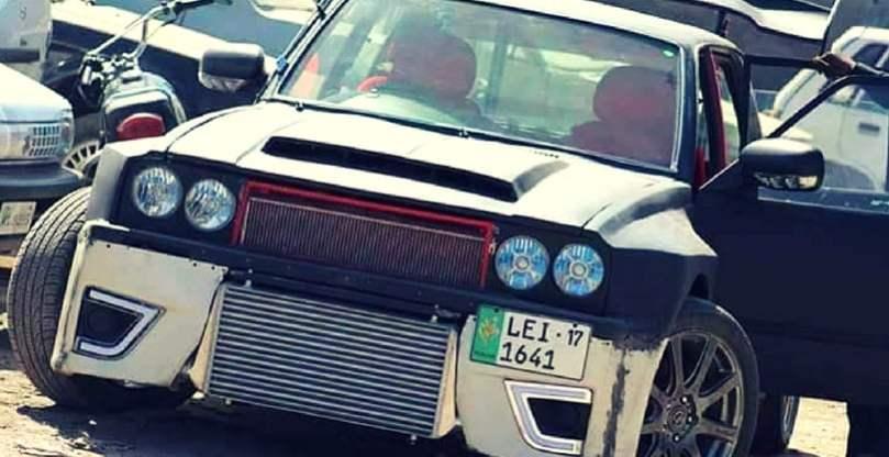 Someone in Rawalpindi just turned their Suzuki FX into a