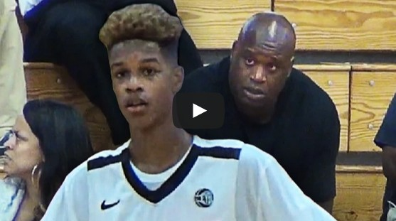 high chair girl unique office guest chairs shaq's son has game! 6'8 shareef o'neal shows off