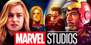 with Iron Man and Captain Marvel