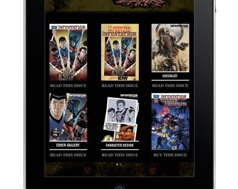 IDW Infests the iPad, iPhone, & iTouch.