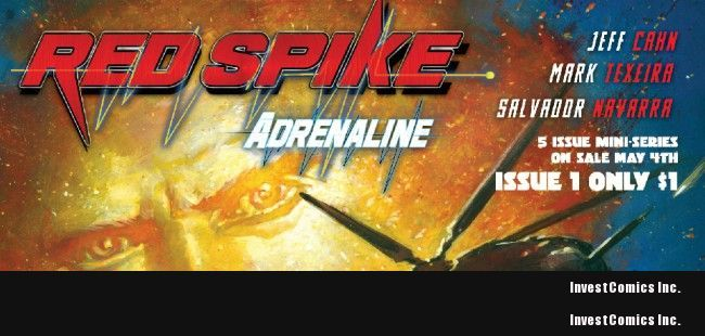 WIN THE ORIGINAL COVER OF RED SPIKE #1 BY MARK TEXEIRA!