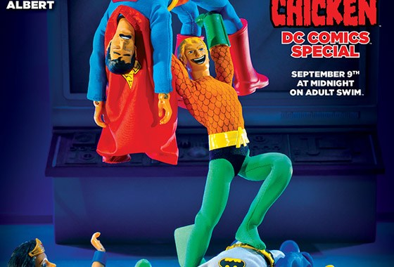 TV GUIDE reveals AQUAMAN #12's ROBOT CHICKEN VARIANT COVER