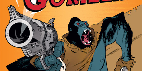 SIX-GUN GORILLA! He's a gorilla with guns. Yeah, it's awesome!