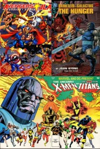 Avengers JLA Darkseid Galactus Uncanny X-Men The New Teen Titans