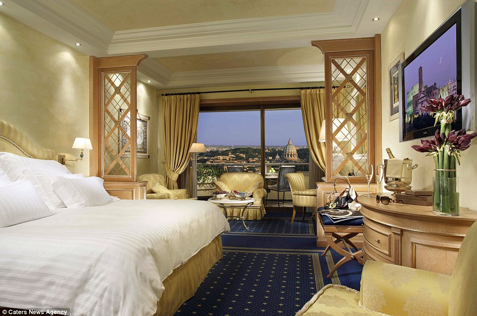 8.	The Penthouse and Planetarium Suites at the Rome Cavalieri Waldorf Astoria