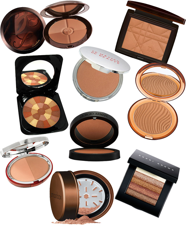 Switch from a simple pink blusher to a bronze blusher