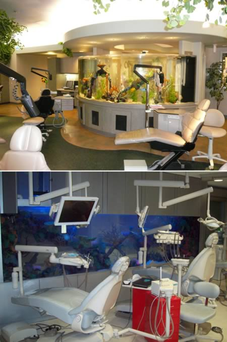 Aquarium dental office