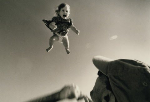 Falling baby was saved twice from the same man