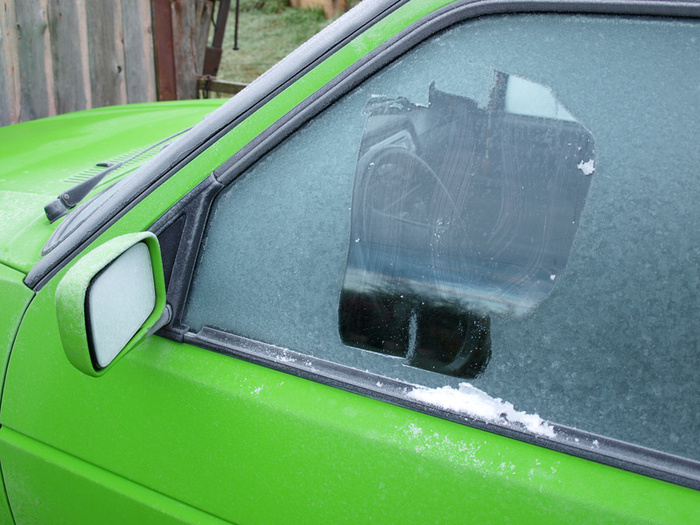 Get rid of frozen car windows