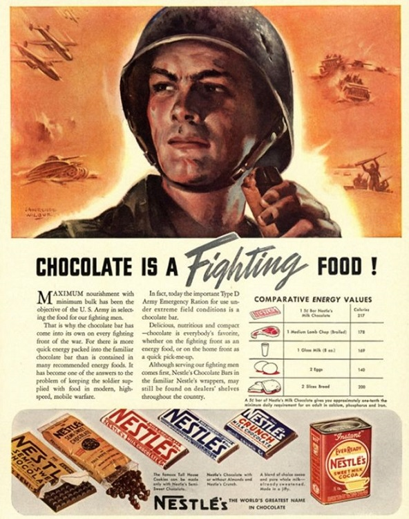 It was food for soldiers in World War Two
