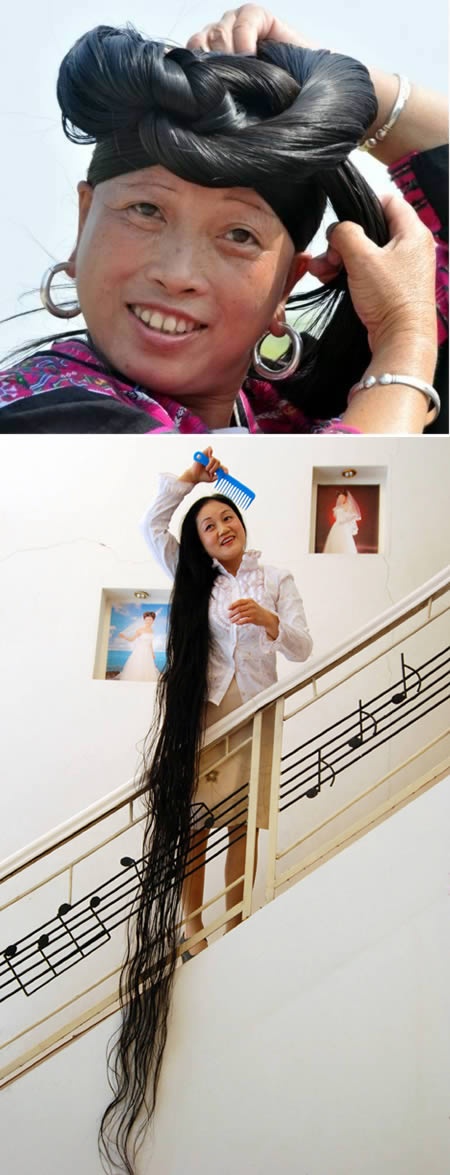 The woman with longest hair in the world
