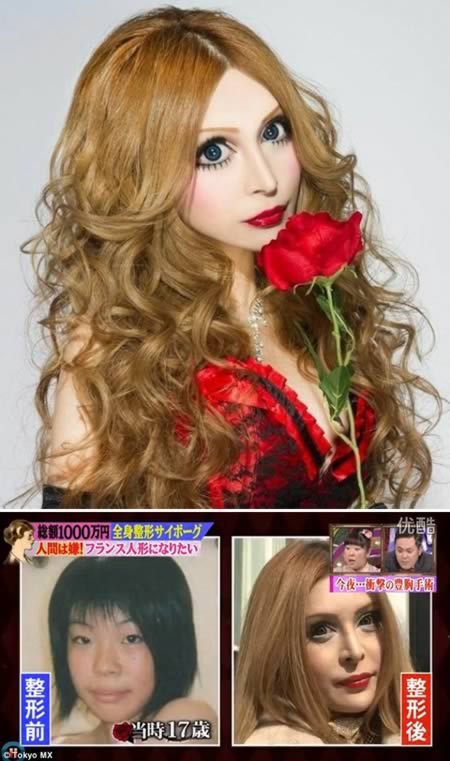 Woman spent 100 000 dollars on surgeries to make herself look like a French doll