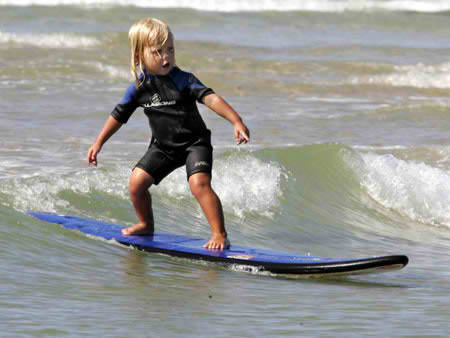 World's youngest surfer