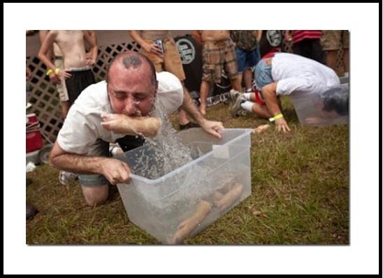 Bobbing for pig's feet
