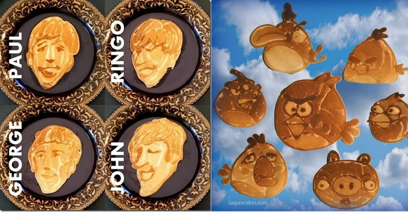 Creative pancake art