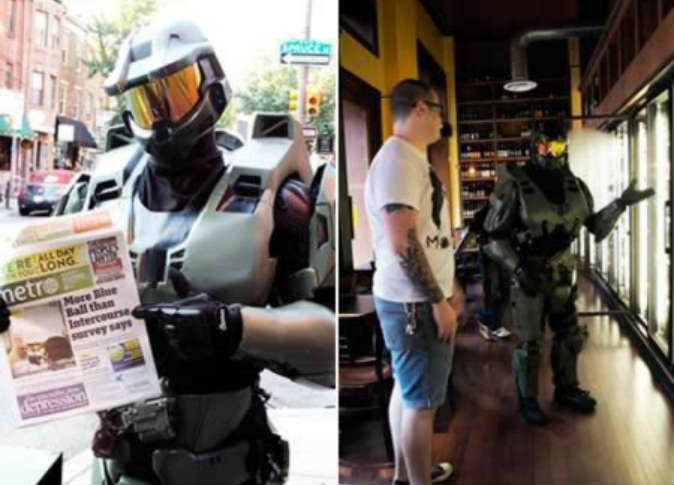 Dumped guy sold a diamond ring in order to buy a Halo Suit Armor