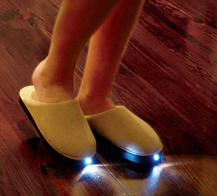 Slippers with LED Light
