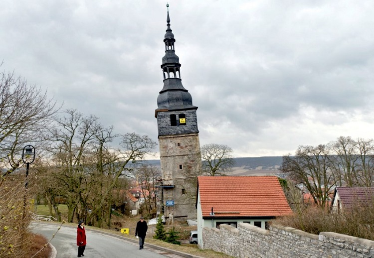 The tower of the Frankenhausen church, Germany