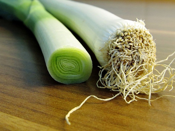 Leeks are low in calories