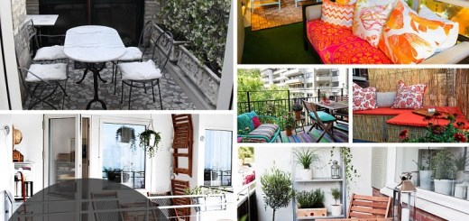 These are some interesting ideas to decorate your small balcony