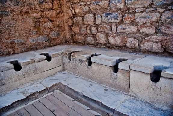 Roman toilets were a nightmare