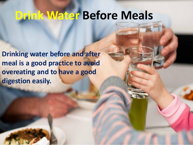 Avoid drinking water after eating