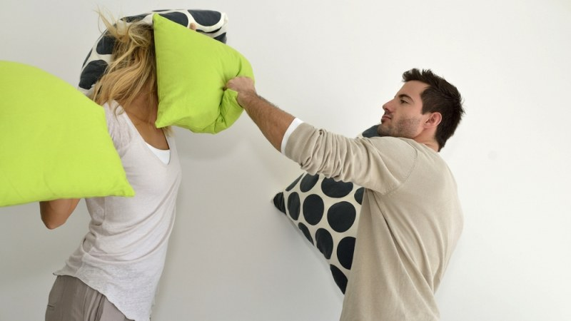 Let your stress burn out through pillow fights