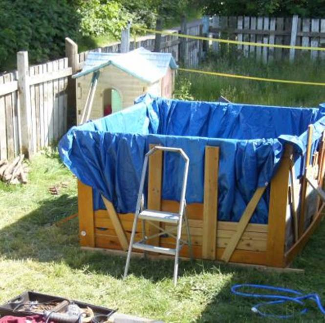Some handy 2x4s can make a useful pool