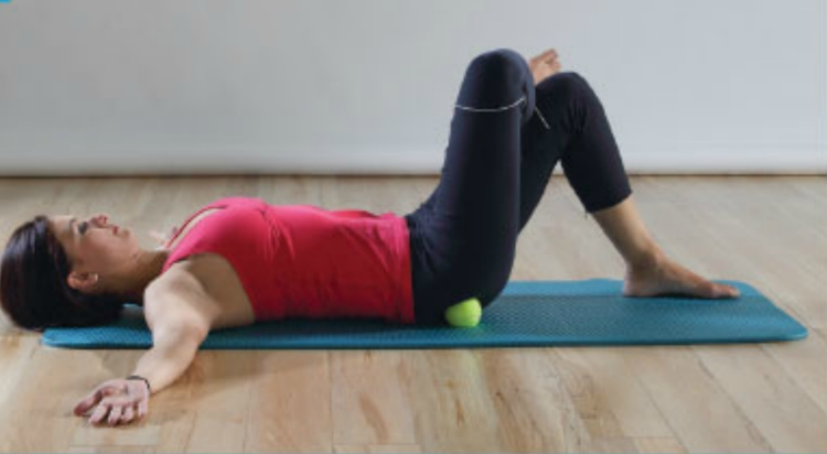 Tennis ball therapy for sciatic pain