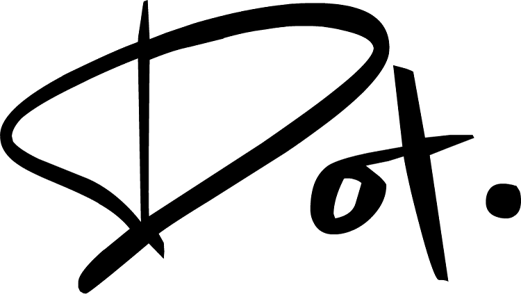 When the signature ends with a full stop