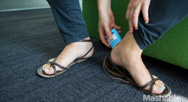 Solid deodorants for blisters