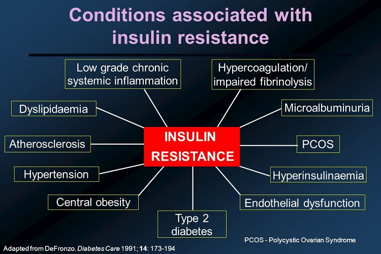 Diseases associated with insulin resistance