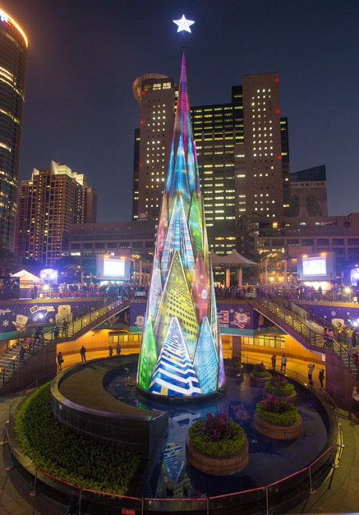 LED Christmas Tree at Taipei, Taiwan