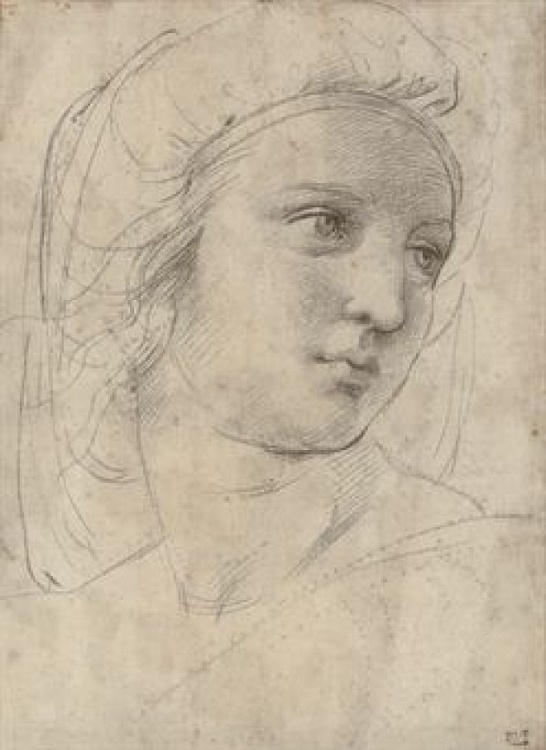 Raphael's Head of a Muse