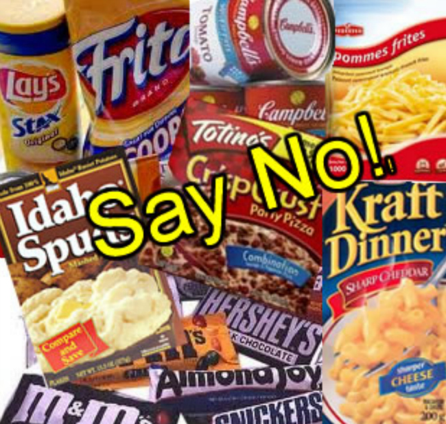 Cut out sugar and processed foods